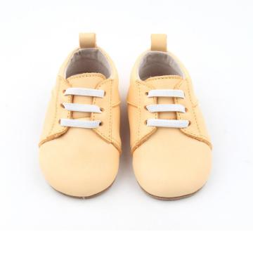 New Bright Yellow Leather Baby Casual Sport Shoes