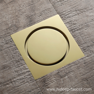 Bathroom Golden Floor Drain