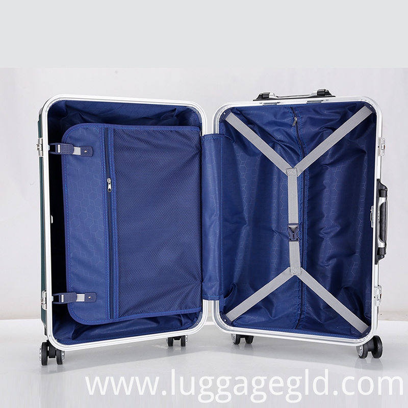 aluminum carry on luggage suitcase