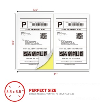 8.5 x 11 A4 adhesive shipping labels paper