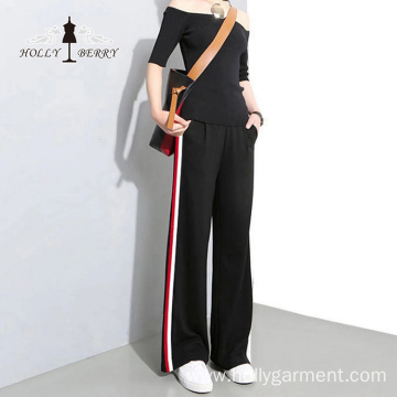 Leisure Sport Women Slacks Soft Wide Leg Pants