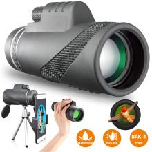 10000m High Powerful Monocular Long Range 40X60 Telescope for Smartphone Waterproof Zoom Binoculars Low light Night vision Scope