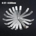 16 Blades Feeler Gauge Metric 0.127-0.508mm Stainless Steel Gap Filler Gauge Measurement Tool for Engine Valve Adjustment