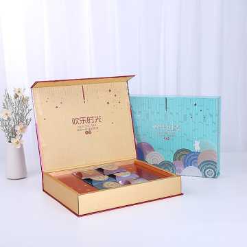 luxury custom gift box tea packaging with magnetic lid