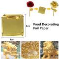 24K Gold Flakes Edible Food Decorating Foil Paper Cuisine Mousse Cake Baking Pastry Art Craft Decor