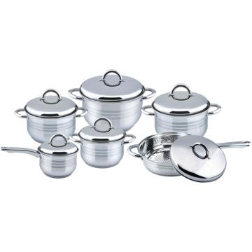 12pcs casserole set with ss lid