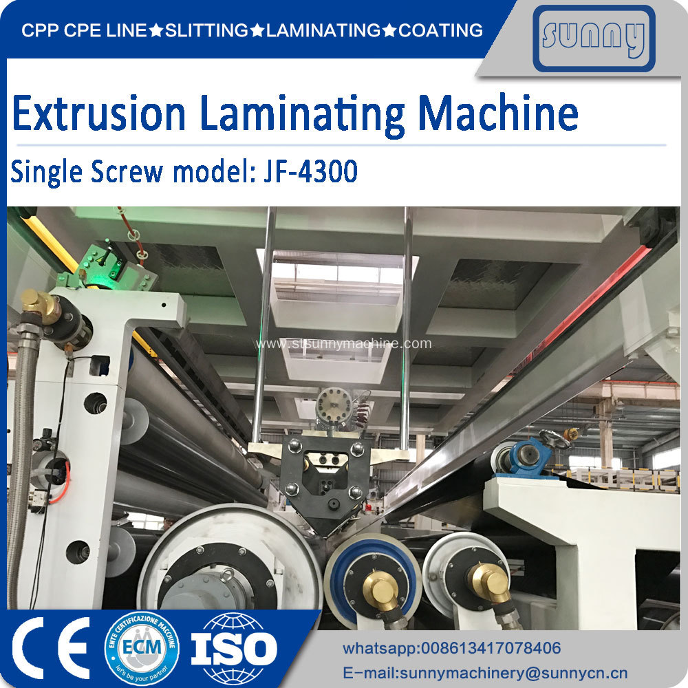 Multilayer co-extrusion lamination production line