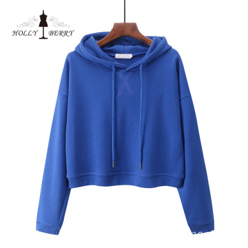 Embroidered Hooded Unlined 100% Cotton Hoodies Women