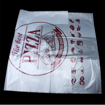 PE Pizza Disposable T-Shirt Food Shopping Bag