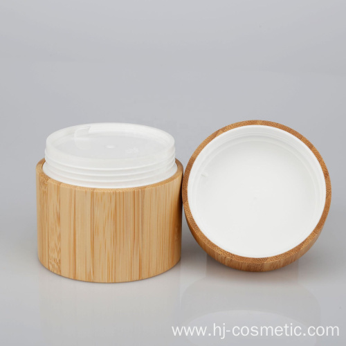 wholesale cosmetic containers face cream use  15g 30g 50g 100g bamboo jars with PP inner