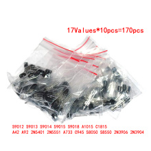 Transistor Assorted Kit S9012 S9013 S9014 S9015 S9018 A1015 C1815 A42 A92 2N5401 2N5551 A733 C945 S8050 S8550 2N3906 2N3904