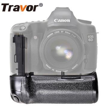 Travor Vertical Battery Grip Holder For Canon 6D DSLR Camera replacement BG-E13 work with LP-E6 battery