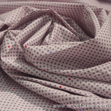 Mulinsen printed cotton poplin fabric with spandex