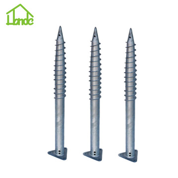 Steel Q235 Ground Screw with Triangle Flange