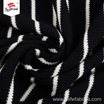 Knit Black And White Stripe Dress Fabric Women