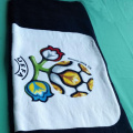 Reactive printed  velour printed beach towel