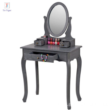 Home furniture natural solid dressing table mirrors bedroom dresser