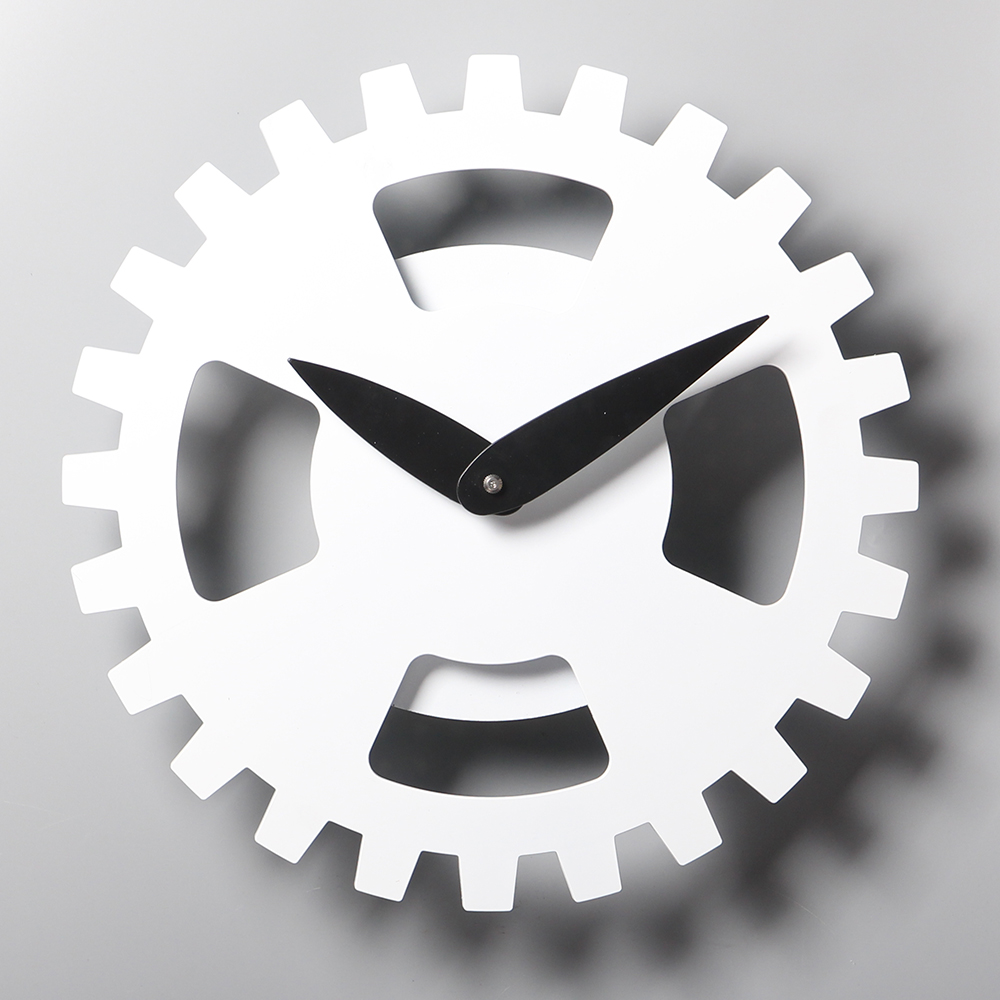 white retro clocks