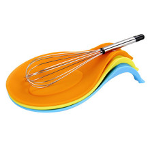 Silicone Heat Resistant Spoon Rest Utensil Spatula Pot Holder Tool Pince Kitchen Cuisine Gadgets