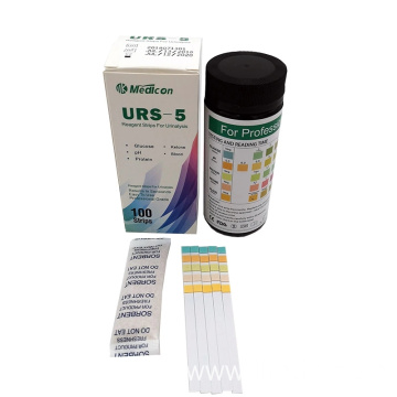 Urine test strips for 5 items