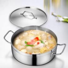 Stainless Steel Handle Cooking Pot with Lid Dutch Oven Gas Stove Induction Soup Milk Cooking Pot Kitchen Pots ollas de cocina
