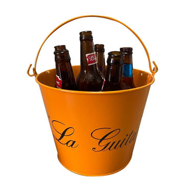 Double-sided printed ice bucket with personalized handle