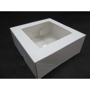 White Cake Favor Boxes With Window