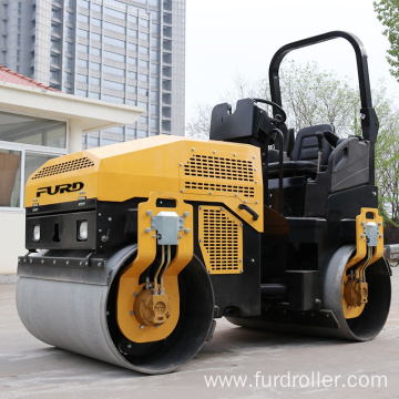Manufacturer 3 Ton Double Drum Vibrator Roller New Road Roller FYL-1200