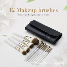 12pcs Quick Dry Hair White Cosmetics Brush Set