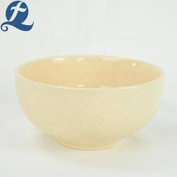Household tableware soup colored restaurant eco friendly ceramic bowl set