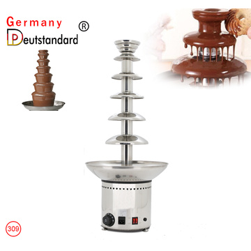 Máquina de fuente de chocolate 220V Fondue Maker Heated 5-Tier