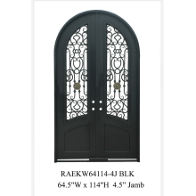 Wrought iron double front door