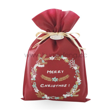 Red Non-woven Fabric Wreath Christmas Gift Wrapping Bags