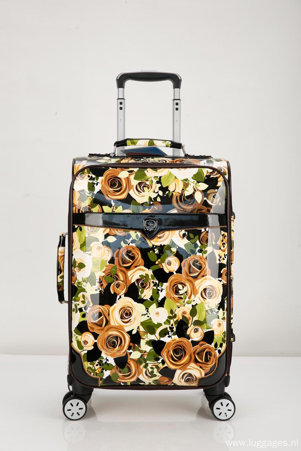 Newly Printing Fabric EVA Trolley luggage