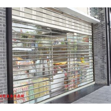 Commercial See Through Crystal Shutter Rolling Up Door