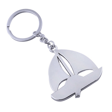 New Style Metal Key Chain Boat Shape Keyring