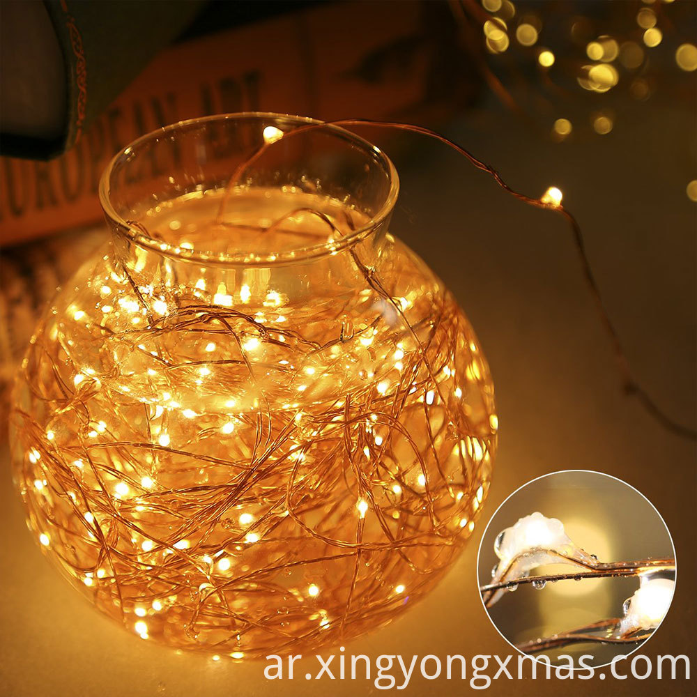 copper string light