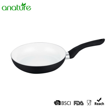 White Ceramic Black Heat Resistant Induction Fry Pan