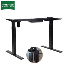 Single Motor Standing Computer Desk Adjustable On Wheels