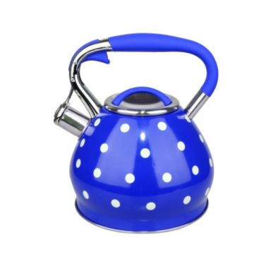 Fashion blue stainless steel whistle kettle