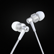 New Stereo Bass Metal Earphone With Color Package