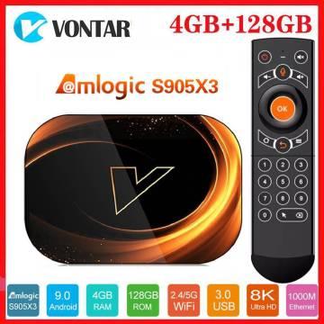 Vontar 8K Amlogic S905X3 Smart TV Box Android 9.0 Max 4GB RAM 128GB ROM 1000M Dual Wifi Youtube GOOGLE Vs X96 MAX Media Player
