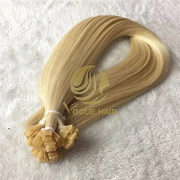 Double drawn Blonde flat tip Hair extensions