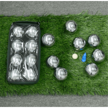 Polished Alloy 8 Boule Bocce Ball Set