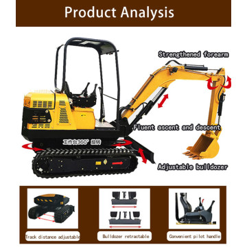 Garden Smallest Hyundai Portable Backhoe Price 1.8t Small Bucket Cheap Import Mini Excavator 2 Ton