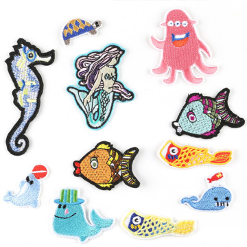 Cartoon Fish Aquarium Ironing Embroidery Patch