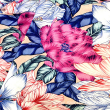Low Price Floral Printed Rayon Viscose Women Fabric