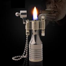 Vintage Metal Flame Kerosene Lighter Retro Oil Lighter Cigarette Lighter Keychain Smoking Accessories Gadgets for Men Technology