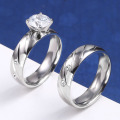 Cheap 2 Piece Engagement And Wedding Ring Set