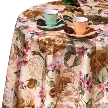 Pvc Printed fitted table covers Shaped Table Runner